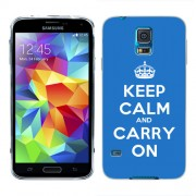 Husa Samsung Galaxy S5 G900 G901 Plus G903 Neo Silicon Gel Tpu Model Keep Calm Carry On