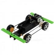 Pulsera Cinturon de cuatro ruedas Kit de coche educativo DIY Hobby Robotic Toy - Negro (2 x AA)