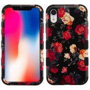 Funda Case Iphone XR Doble protector Uso Rudo Tuff - Rosas