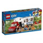 Lego City A carrinha pick-up e a caravana, 60182Multicolor- TAMANHO ÚNICO
