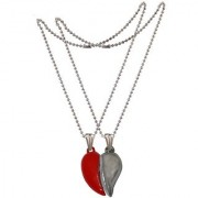 Men Style Couples Broken Heart Mangnetic Love Gold And Silver 316 L stainless Steel Heart Pendent