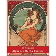 15 Classic Alphonse Mucha Posters: An Art Nouveau Coloring Book, Paperback/Enchanted Design Co