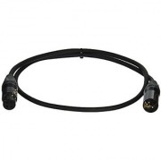 Comprehensive Cable PS-125-3 Performer Series Lo-Z Microphone Cable with Neutrik Black/Nickel 3'