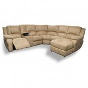 Lyla 7Pce Corner Suite Corner Lounge Suite Coffee Collection: Latte Microfiber Suede Fabric
