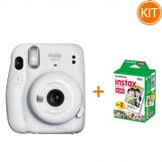 Fujifilm Instax Mini 11 White cu Set de 20 Hartii Foto