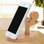 Samsung Universal Unique Wooden Kongfu Style Holder Kongfu Kid Phone Stand for iPhone 7 Samsung S8 Xiaomi