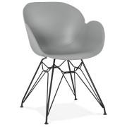 Design stoel 'SATELIT' grijs industri
