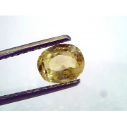 1.96 Ct 3.25 ratti Unheated Untreated Natural Ceylon Yellow Sapphire