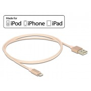 DeLock USB data and power cable for iPhone, iPad, iPod Rose 1m 83875
