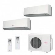 Fujitsu Condizionatore Dual Split Parete Gas R410A Serie LM 7000+9000 Btu ASYG07LMCE ASYG09LMCE AOYG18LAC2 A++/A+
