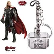 LADY HAWK Thor Hammer - Silver Colour Metal Keychain