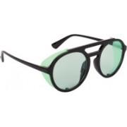 NuVew Round, Shield Sunglasses(Green)