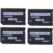 YTM Ytm (Pack of 4)Micro SD To Pro Duo Adapter Converter For PSP 1000/2000/3000 and E-1000, E-1004 Series Micro Sd TO Pro Duo Adpater. 128 GB Memory Stick Duo Class 10 5 MB/s Memory Card