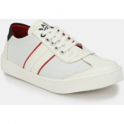 Men's White Lace-up Sneakers