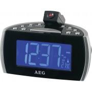 Radio FM cu ceas desteptator si proiectia orei, AEG MRC 4119