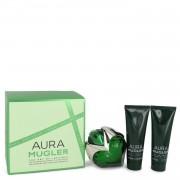 Mugler Aura by Thierry Mugler Gift Set -- 1.7 oz Eau De Parfum Spray + 1.7 oz Body Lotion + 1.7 oz Shower Milk