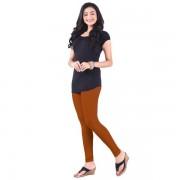 LUX Lyra Cotton Stretchable Full length Churidar Lycra Leggings for women - Dark Rust