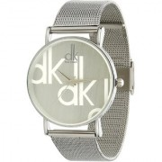 TRUE COLORS New Beuty Fool Silver Colored Analog Watch For Girls ( DK WHITE )