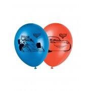 8 Balões de látex Cars