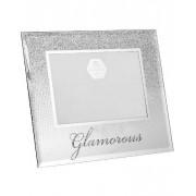 Glamorous - Silverfärgad Bildram med Glitter 21x17 cm