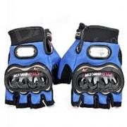 Pro-Biker Riding Half Cut Gloves- Blue