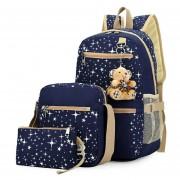Mochila De Estampado Estrella Para Las Chicas De Forma Terno - Azul
