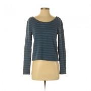 C & S Check & Stripe Sweatshirt: Blue Stripes Clothing - Size X-Small