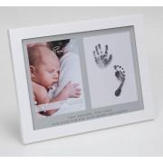 fotolijst met inkt hand- en voetprint