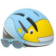 Lazer kinderhelm Blub met zonnebril junior 46 52 cm lichtblauw