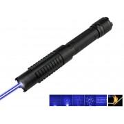 Laser Albastru 50000 mW cu Acumulatori si 5 Capete 3D Blue laser Pointer