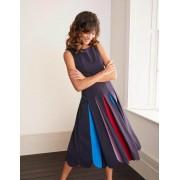 Boden Navy Allegra Ponte-Kleid mit Plisseefalten Damen Boden, 34 R, Navy