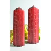 Candles by Milanne Marina kaars, BORDEAUX ROOD, POLYMICO, 2 STUKS h: 21 cm - kaarsen