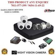 Dahua 1 MP HDCVI 8CH DVR + Bullet Camera 2Pcs and Dome Camera 3Pcs + 1TB HDD + POWER SUPLAY + BNC + DC ( CCTV COMBO )