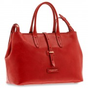 The Bridge Borsa Donna Shopper a Mano con Tracolla in Pelle Rossa linea Dalston