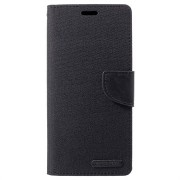 Mercury Goospery Canvas Diary Huawei Mate 20 Pro Wallet Hoesje - Zwart