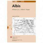 Swisstopo - 1111 Albis - Wandelkaarten Ausgabe 2008