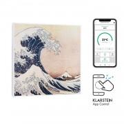 Klarstein Wonderwall Air Art Smart, инфрачервен нагревател, 60 х 60 см, 350 W, апликация, вълна (HTR10-WdwlS350W Wave)