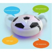 Indoor Football Game Toy Soccer Disc For Kids With Foam Bumper And LED Lights - Multi Color