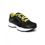 Reebok Men's Edge Quick Lp Black, Green and White Running Shoes - 8 UK