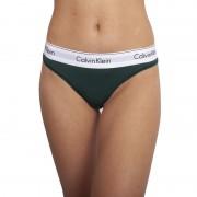 Calvin Dámská tanga Calvin Klein tmavě zelená (F3786E CP2) M