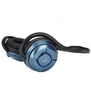 WhiteLabel MusicJogger Wireless Bluetooth Stereo Headphones Headphone Sport Headset Music Streaming Noise Reduction Handsfree Voice Calling (Metal Blue)