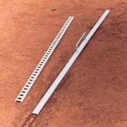 Метален швелер за монтаж на линии за тенис игрище