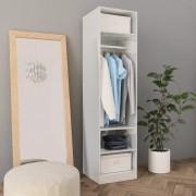 vidaXL Гардероб, бяло със силен гланц, 50x50x200 см, ПДЧ