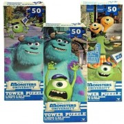 WeGlow International Monsters University Tower Puzzle, Assorted (3 Puzzles) (50-Piece)