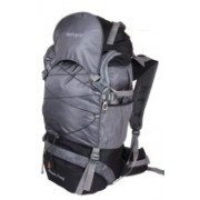 Remyra Hiking Backpack Trekking Bag with Rain Cover Travel Bags Rucksacks for Men Women Outdoor Sport Daypack Travel Waterproof Bag for Climbing Camping Touring Mountaineering internal frame bag (Black and Grey) Rucksack - 65 L(Grey)