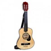 Детска играчка, Класическа дървена китара с презрамка 75см., 191327