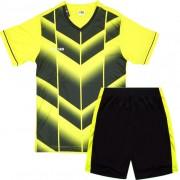 Детски футболен екип фланелка с шорти жълто и черно