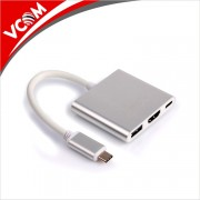 Adapter, VCom Docking USB Type-C to HDMI/USB 3.0/Type-C Power Distribution (CU427M)