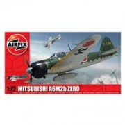 Kit Aeromodele Airfix 01005 Avion Mitsubishi A6m2b Zero Scara 1:72