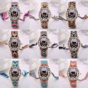 XR1244 Mujer reloj de cuarzo Ver Correa trenzada creativo marcado Cat personalizado